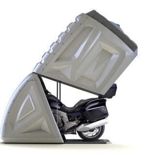 Futuristlik värk: sakslased lõid mikrogaraaži mootorrattale