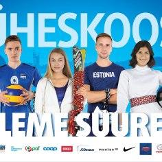 """Eesti Olümpiakomitee alustas spordi ja kultuuri seostest rääkivat kampaaniat """"Üheskoos oleme suured"""", milles tippsportlased jagavad oma lugusid rahvatantsu- ja koorilauluelamustest."""