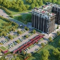 """В девяностых посреди ласнамяэского пустыря выросла 12-этажка и стала Морской академией. Но время — вода. И совсем скоро здание из красного кирпича, много лет пустовавшее и горевшее, должно превратиться в """"самый большой жилой дом в Эстонии"""", похожий, по задумке архитекторов, на нью-йоркские резиденции, что близ Central Park."""