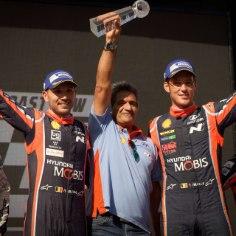 Hyundai rallimeeskonna juht Michel Nandan kinnitab, et tiimi suureks eesmärgiks on võita konstruktorite MM-tiitel. Hetkel ollakse küll teisel kohal, kuid kaotus Toyotale on 20 punkti. Sõita jääb veel kaks etappi: Hispaanias ja Austraalias.