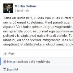 Martin Helme: kas süütamine on paha ainult seepärast, et süütajateks ei olnud immigrandid?