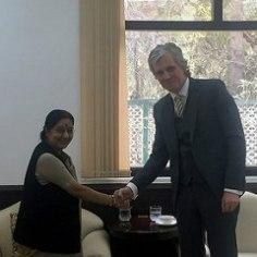 Suursaadik arutas India välisministriga laevakaitsjate küsimust