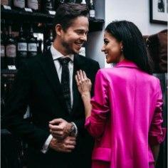 Õnne ja armastust! Modell Sandra Daškova kihlus oma kallimaga