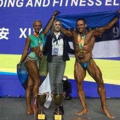 <font color=&quot;#d30008&quot;>FOTOD |</font> Võimsad Ott Kiivikas ja Endla Vaher naasevad Hiinast mitme medaliga
