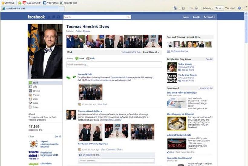 Presidendi kantselei tellis Facebooki jälgimise teenuse