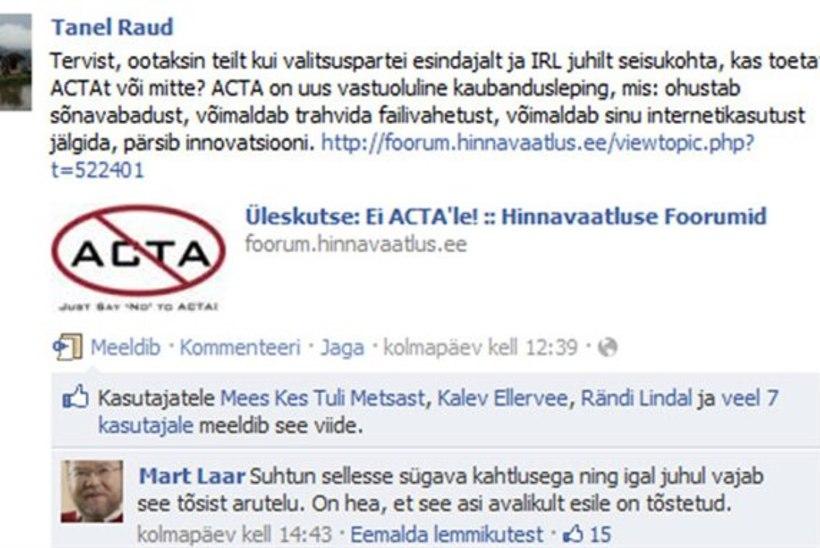 Mart Laar tsensuurist oma Facebooki lehel: mul sai ruum otsa!