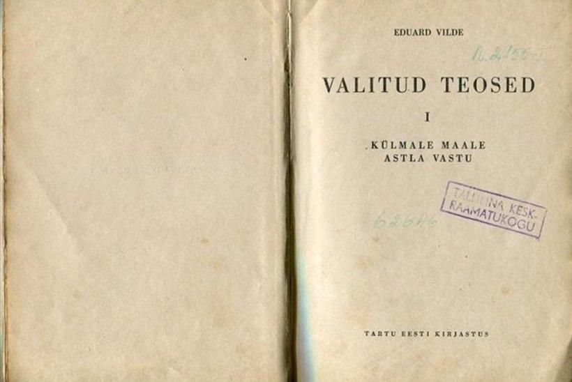 Tallinna keskraamatukogule tagastati 69 aastat tagasi laenatud raamat
