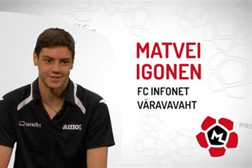 Infoneti 16aastane väravavaht Matvei Igonen: piima joon päevas vähemalt liitri!