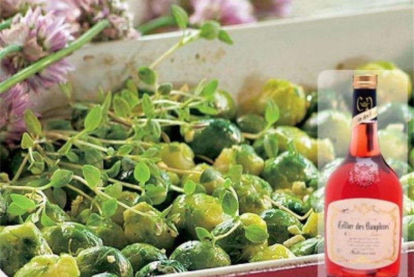 Küpsetatud rooskapsad küüslauguga