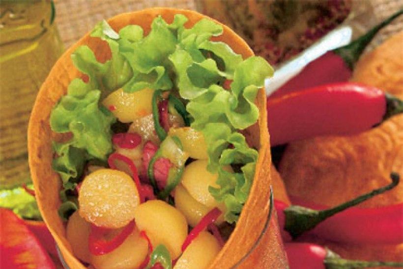 Wrap pariisi kartulite ja köögiviljadega