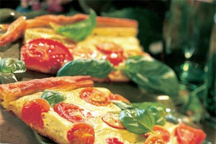Mahlane tomatipirukas pestoga