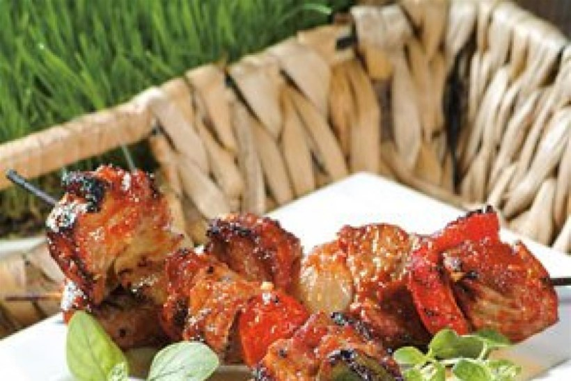 Köögivilja-liha grillvardad