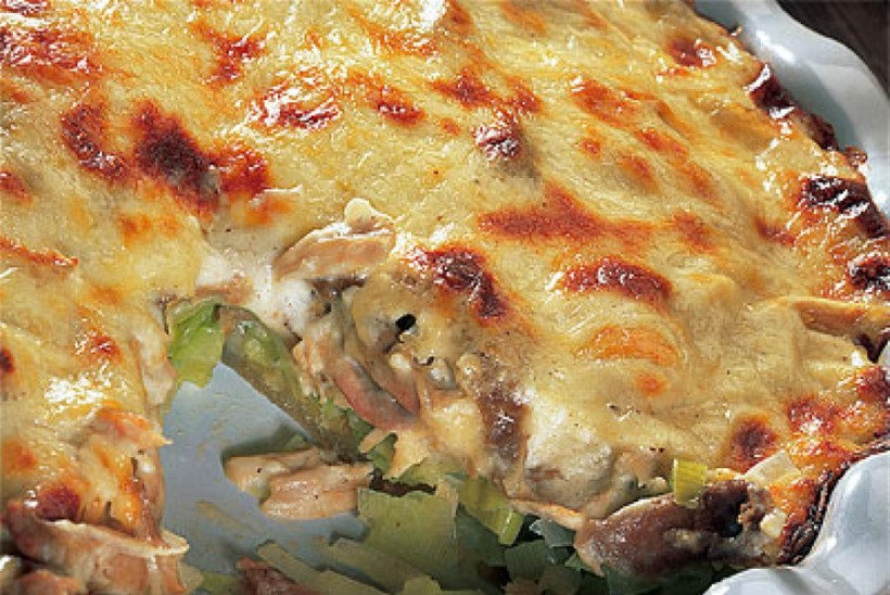 Porru-kana-juustupirukas