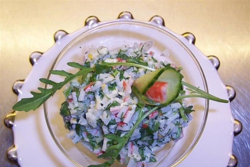 mahlane krabipulga salat