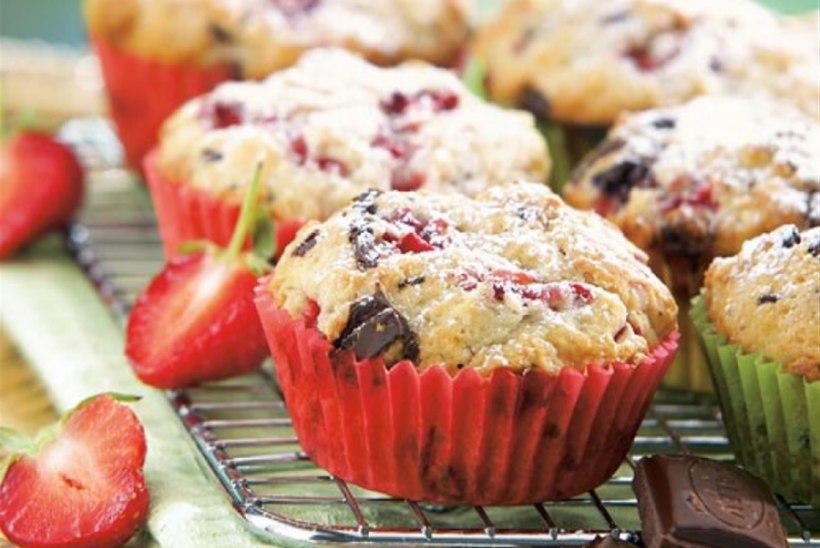 Maasika-šokolaadimuffinid