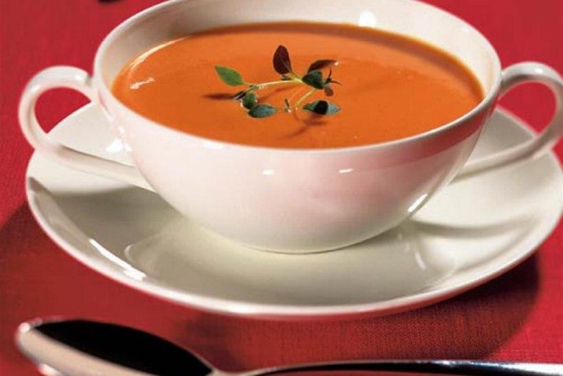 Tomati-kitsejuustu püreesupp
