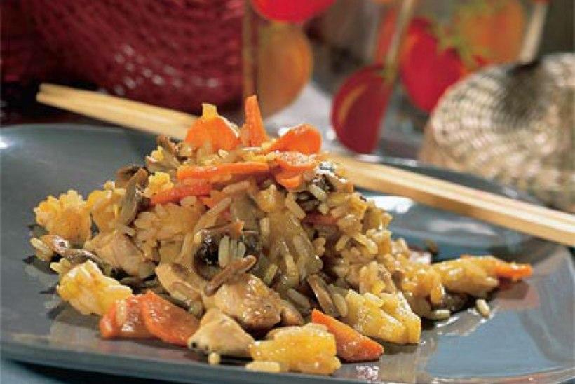 Panniroog riisi ja kanaga
