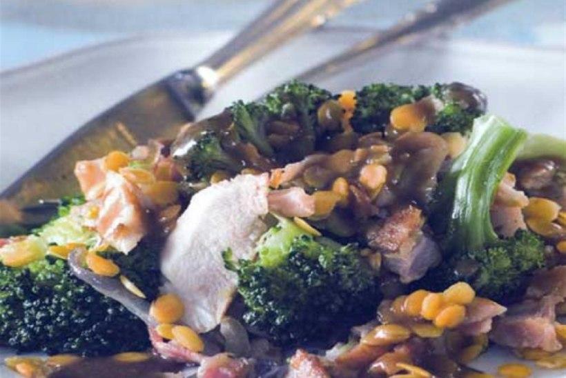 Soe läätse-brokolisalat