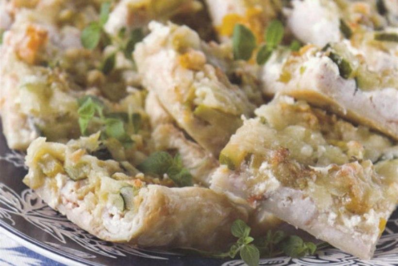Kanahakkliha-köögivilja plaadipirukas