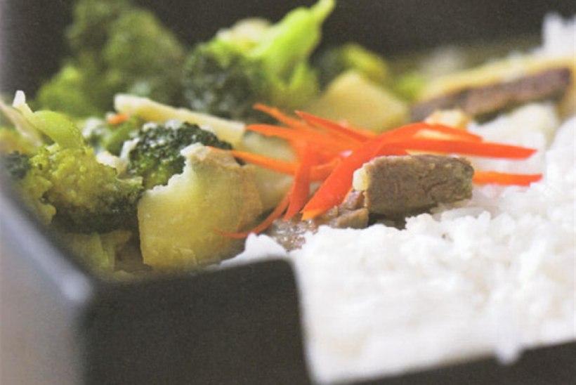 Roheline karri brokoli ja veiselihaga