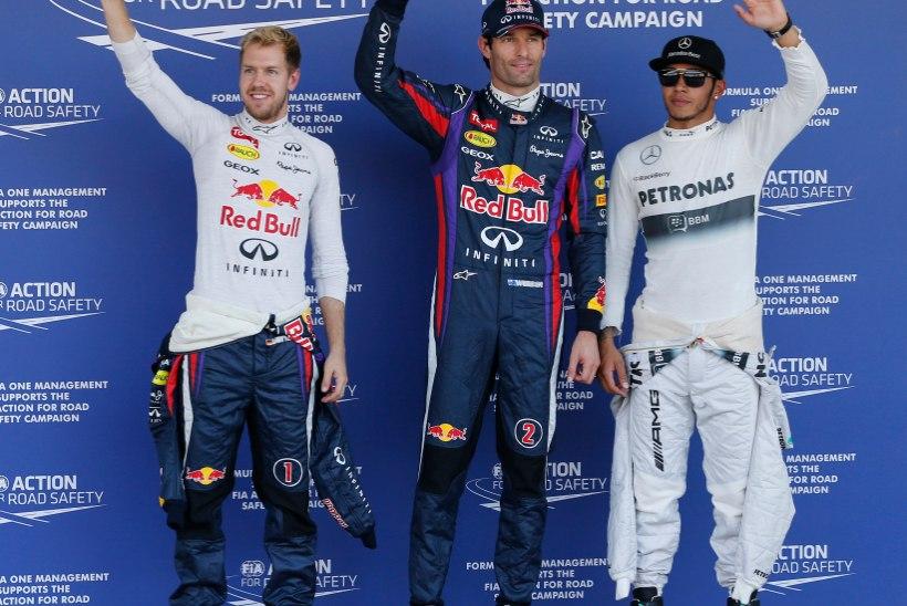 Webber lõpetas Jaapanis tiimikaaslase valitsemise