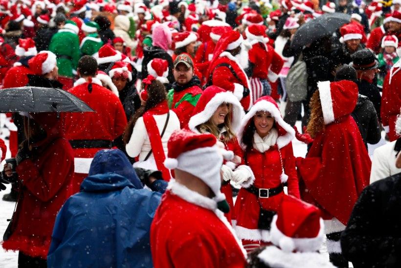 VIDEO: jõuluvanad jõid end purju ja läksid kaklema