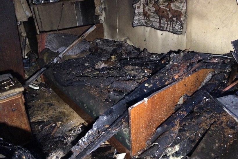FOTOD: Turbas hukkus tulekahjus liikumisraskustega mees