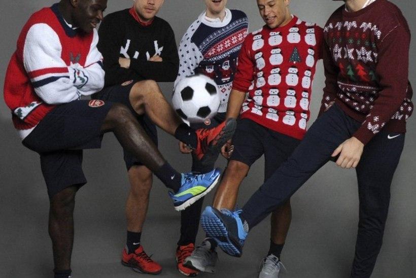 Mõnusad fotod: Arsenali mängijad jõulukampsunites