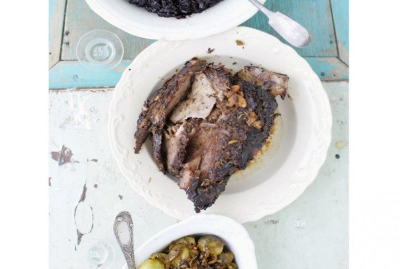Lammas õunase rooskapsa ja musta riisiga