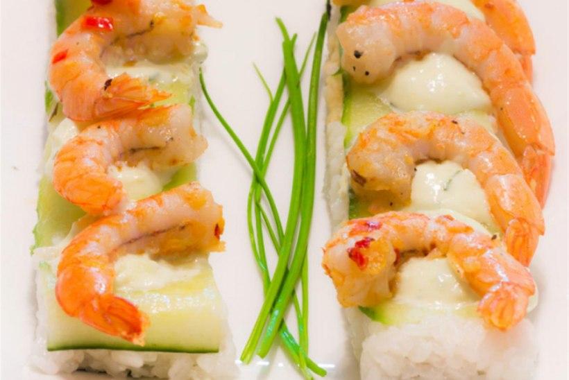 Kurgi ja hiidkrevetiga nigiri-sushi