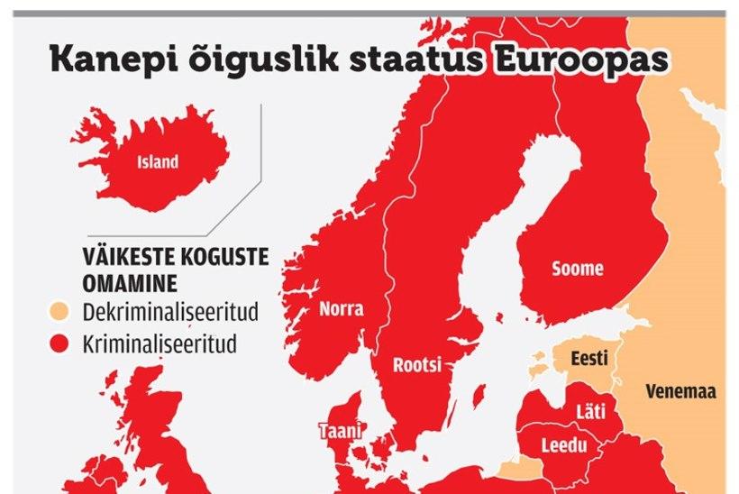 Terviseeksperdid: Eesti pole kanepi legaliseerimiseks veel valmis