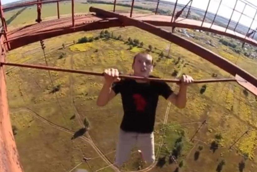 VIDEO: noored ukrainlased teevad eluohtlikke trikke