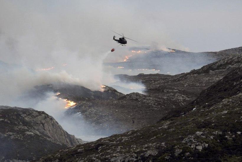 Norras Frøya saarel puhkes ulatuslik maastikupõleng