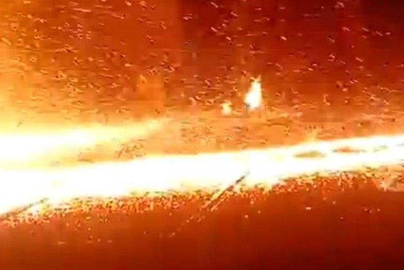 VIDEO: õnnetus Venemaa metallitehases muutis põranda laavajõeks