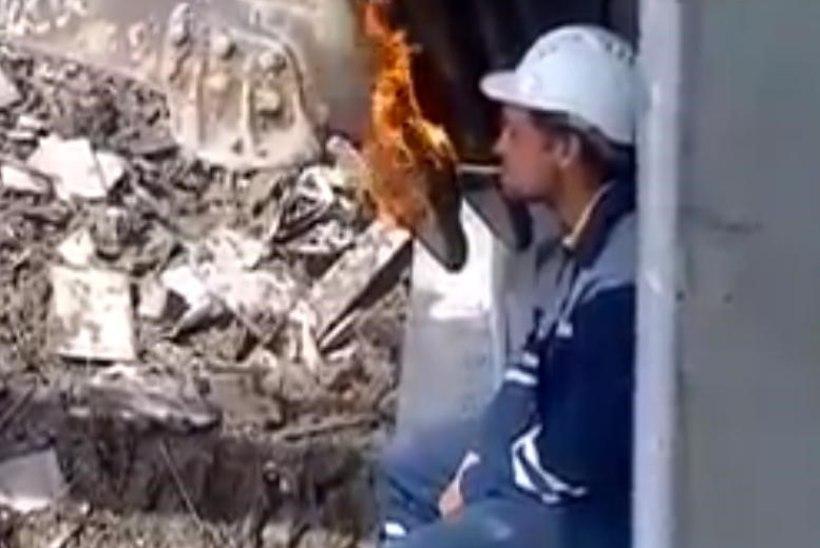 VIDEO: sigaretti võib ka nii süüdata