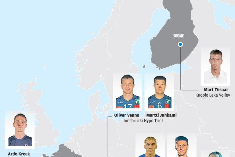 Eesti võrkpallurid pilla-palla Euroopa peal laiali
