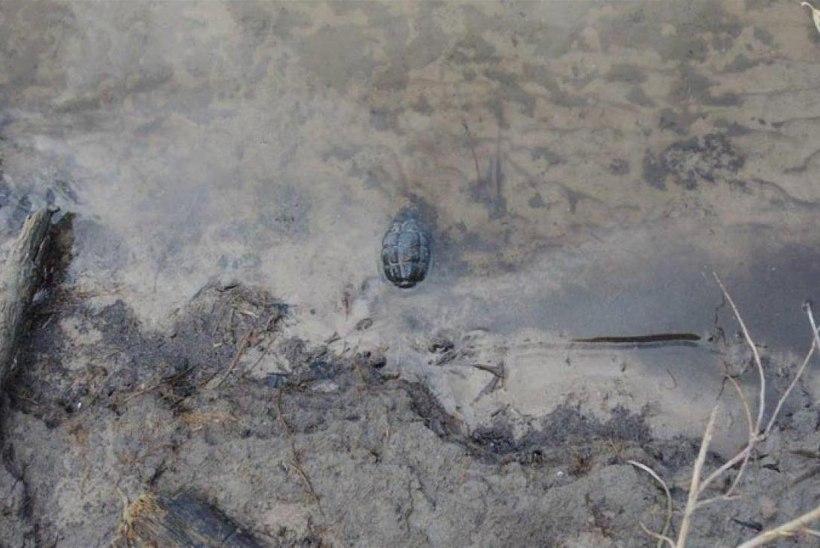 Kalamees leidis jõest granaadi