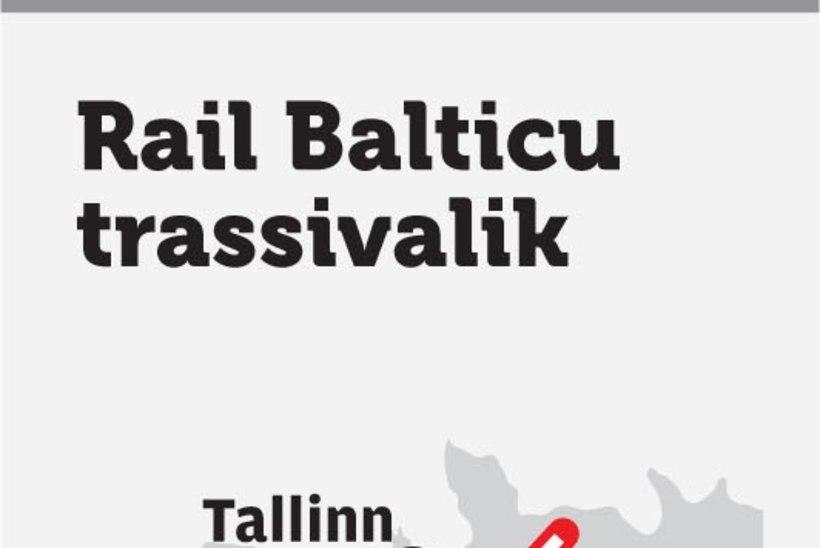 Rail Balticu konsultandid tõid näha oma värskelt valminud  trassieelistuse