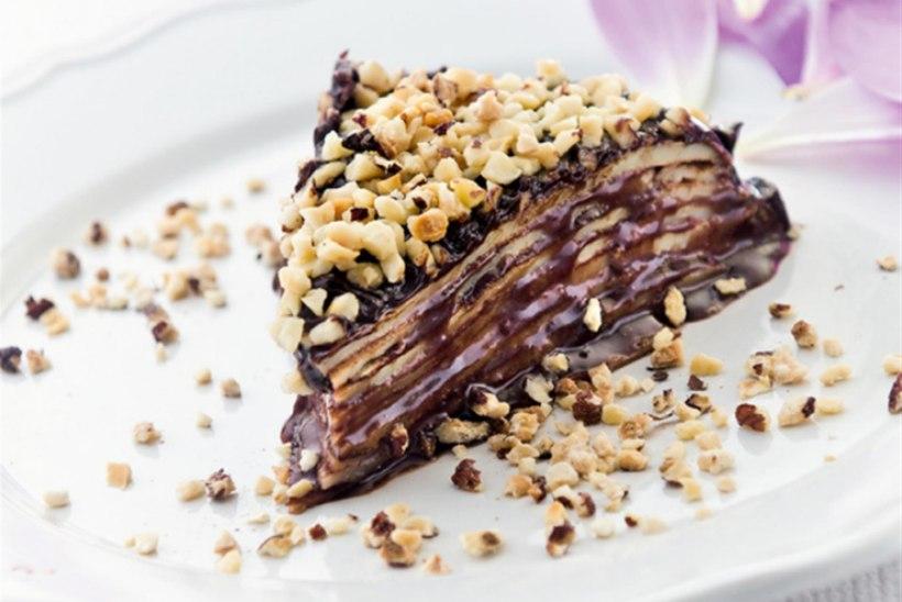 Šokolaadi-pähkli pannkoogitort