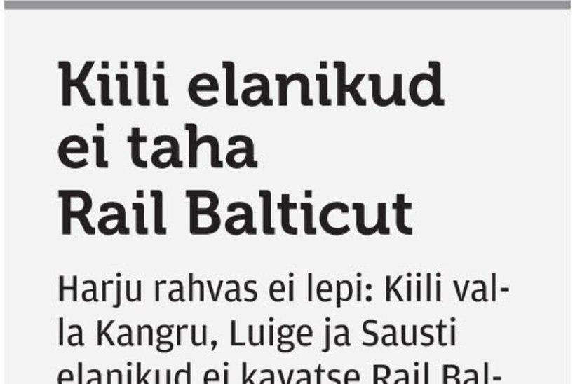 Harjumaa külad on Rail Balticu vastu