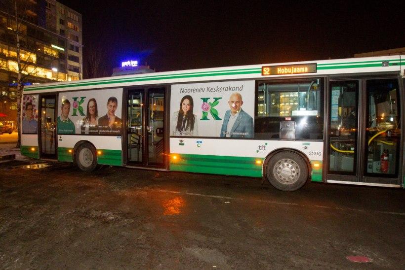 JOKK: Keskerakond võib end bussidel reklaamida, konkurendid mitte