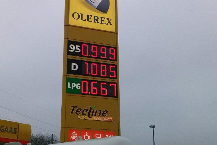 KÜTUSE HIND TEGI AJALUGU: bensiini hind langes alla ühe euro