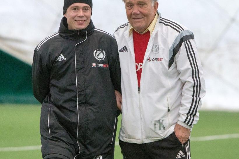 GALERII: Nõmme Kalju pidas esimese treeningu uue peatreeneri Sergei Terehhovi käe all