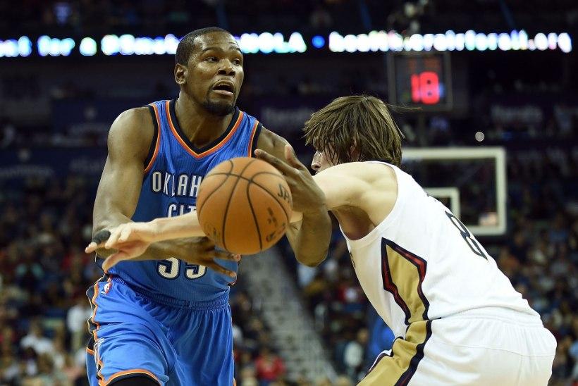 NBA kõige väärtuslikum mängija Durant naasis platsile, kuid meeskond sai kirja 13. kaotuse