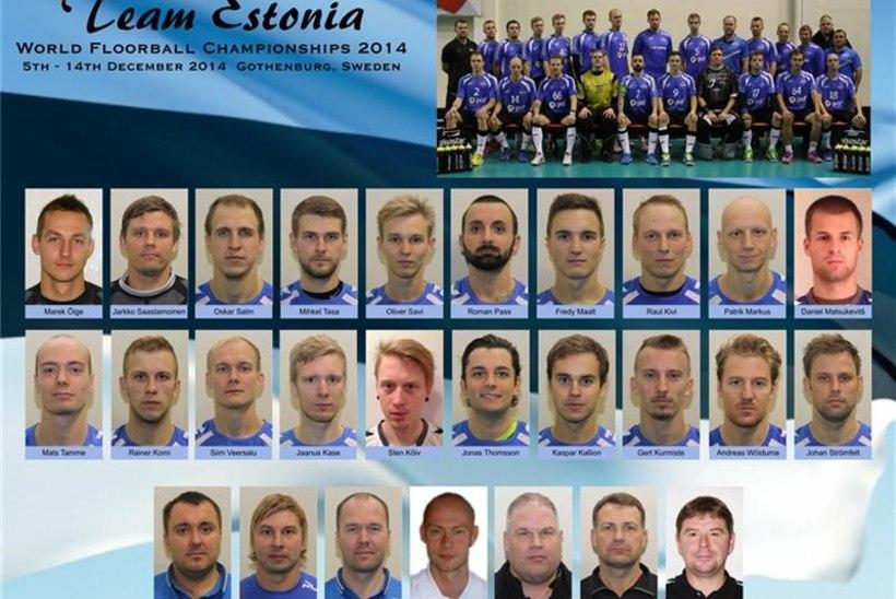 Eesti meeste saalihokikoondis alustab MM- finaalturniiri