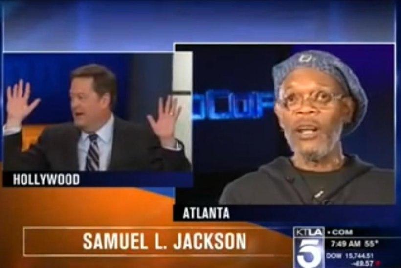 """VIDEO: Samuel L. Jackson vihastas teda """"Matrixi"""" näitlejaga sassi ajanud uudisteankru peale!"""