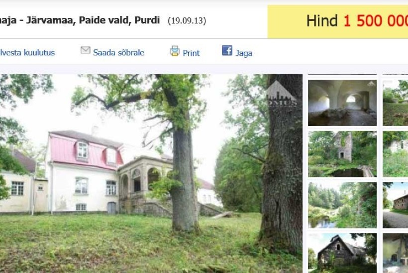 Vaata, millised on Eesti kallimad müügis olevaid mõisad