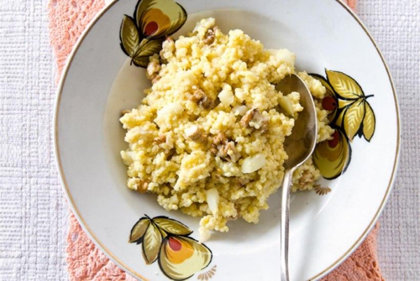 Hirsipuder rabarberi ja pähklitega