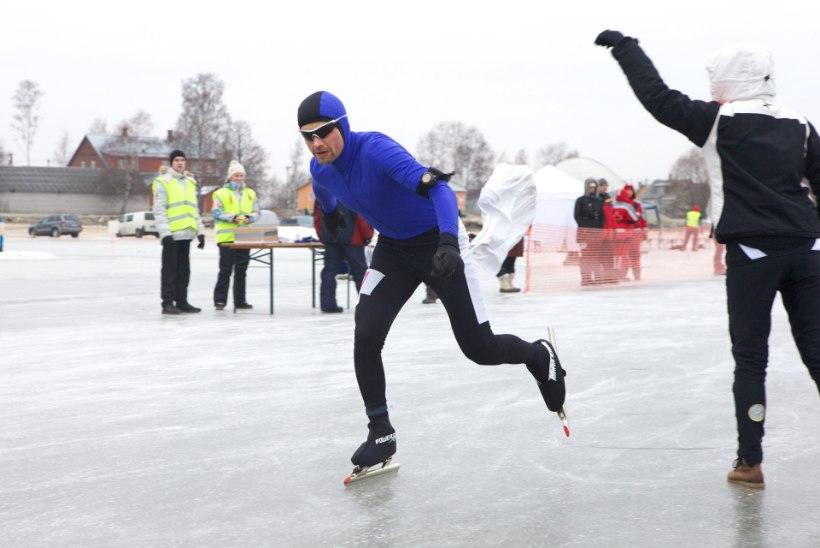 ÕHTULEHE VIDEO: Peipsi järvel peeti Kalevipoja uisumaratoni