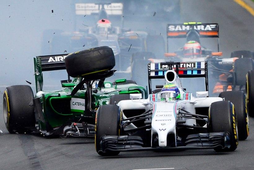 Massa on vihane talle otsa sõitnud Kobayashi peale